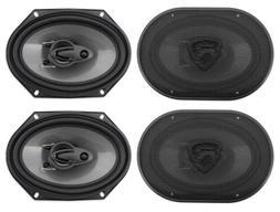 Rockville RV68.3A 6x8 3-Way Car Speakers 1800 Watts/340 Wat