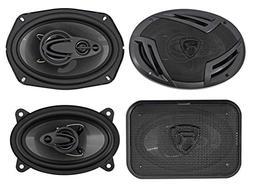 "Rockville RV69.4A 6x9"" 1000w 4-Way Car Speakers+ 4x6"" 500w"