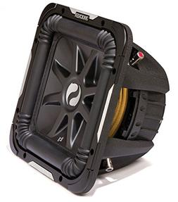 "Kicker S12L7 Car Audio Solobaric L7 Square 12"" Sub Dual 4 Oh"
