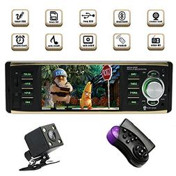 Single Din Bluetooth Car Stereo with USB/SD/AUX/FM Car Radio
