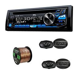 JVC Single DIN CD Receiver w/Bluetooth, USB/Aux Input with P