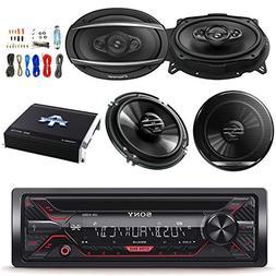 Sony CDXG1200U 1DIN Car Stereo Receiver w/Pioneer TSG1620F 6