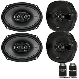 Kicker Speaker Bundle - Two Pairs of Kicker 6x9 Inch 3-Way K
