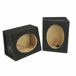 "SCOSCHE SE6900 6""X 9"" MDF Carpeted Speaker Enclosure Pai"