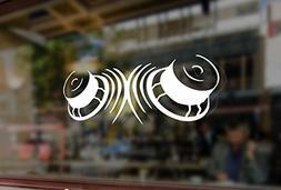 25cm SPEAKERS Subwoofer Bass Art Vinyl Stickers Funny Decals