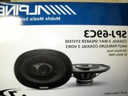 Alpine SPJ-69C3 6in. X 9in. COAXIAL 3-WAY 300 watts 60 Watts