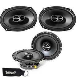 "Alpine SPS-610 6-1/2"" Coaxial 2-Way Speakers & SPS-619 6x9 C"
