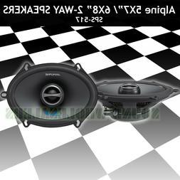 "ALPINE SPS-517 2-WAY COAXIAL 5x7"" CAR SPEAKER NEW SPS517  CA"