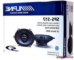 "Alpine SPS-517 Type-S Series 2-Way  Coaxial Car Speaker 5"" x"