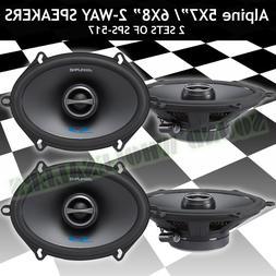 ALPINE SPS-517 X2 2-WAY COAXIAL 5x7 CAR SPEAKER NEW SPS517