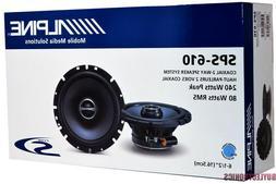 "ALPINE SPS-610 TYPE S 6.5"" CAR AUDIO COAXIAL SPEAKERS 2-WAY"