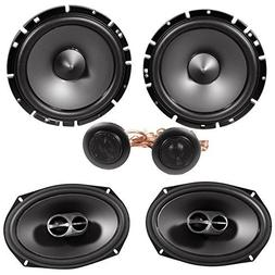 "Alpine SPS-619 6x9"" Coaxial Car Speakers+Alpine SPS-610C 6.5"