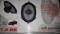American Bass SQ5.7 5in. x 7in. Car Speakers Set Of Two