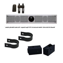 Wet Sounds Stealth 6 Ultra HD White + UTV Mounting Kit, Slid