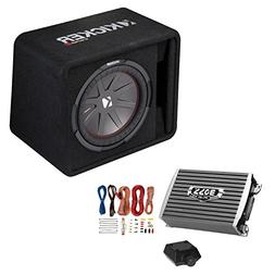 Kicker 12-Inch 1000W Subwoofer Box + 1500W Mono Amplifier wi