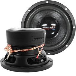Car Woofer, Black 8 Inch 600w Max Subwoofer Speaker 4 Ohm Dv