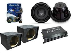 Complete Auto Subwoofer Amp Combo Package Including  Lightni