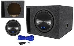 "Alpine SWS-12D2 12"" 1500 Watt Car Subwoofer + Vented Sub Enc"