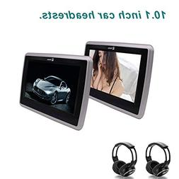 """10.1"""" Tablet Style Car Headrest DVD Player Touch Button Pair"""