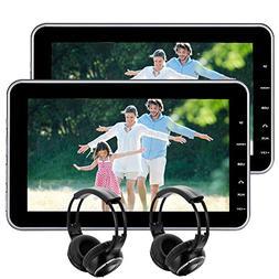 "EinCar 10.1"" Tablet-Style Ultra-Thin Car Headrest DVD Player"