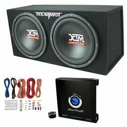 MTX TNE212D 12 1200W Dual Loaded Car Subwoofers Box Planet 1