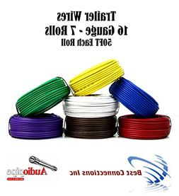 7 Way Trailer Wire Light Cable for Harness 50 FT Each Roll 1