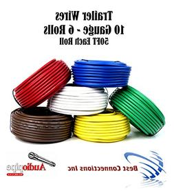 6 Way Trailer Wires Light Cable for Harness 50 FT Each Roll