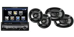 """Pioneer TS-165P + TS-695P Two Pairs 6.5"""" + 6x9"""" Component Sp"""