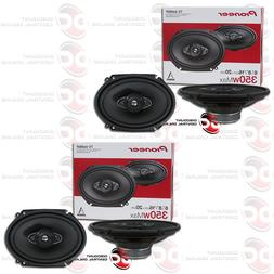 "4 x PIONEER TS-A6880F 6 x 8"" 4-WAY CAR AUDIO COAXIAL SPEAKER"
