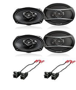 """Pioneer TS-A6966R 6"""" x 9"""" 3-Way Speaker,  W/Metra 72-4568 Sp"""