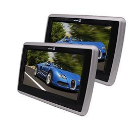 Twin Car Monitor Headrest Table Holder DVD CD Player HD 1080