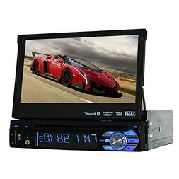 Universal Car DVD Player 1 din Car Stereo Removable Panel In
