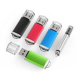 TOPESEL 5 Pack 32GB USB 2.0 Flash Drive Memory Stick Thumb D
