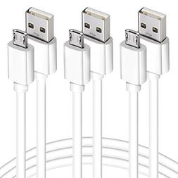 Usb to Micro Usb Cable, 3Pack 6.6FT Long Fast Charge USB 2.0