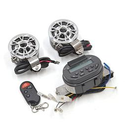 uxcell Motorcycle Audio Speaker MP3 Player USB FM Radio Ster