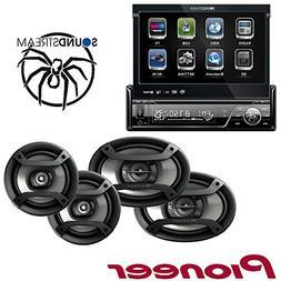Soundstream VIR-7830B 1 DIN DVD/CD/MP3 Player Flip-Out up Sc