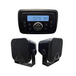 Herdio Marine Stereo Receiver Speaker Kit - in-Dash LCD Digi