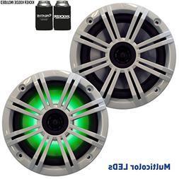 "Kicker 6.5"" White LED Marine Speakers  1 pair of OEM replace"