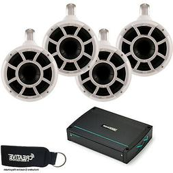 Wet Sounds White REV8 Fixed clamp Tower Speakers Kicker 44KX
