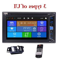 Wince 2 Din Car Stereo Radio 3 Types Win 8 UI 6.2 Inch Capac