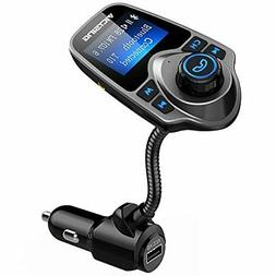 VicTsing Bluetooth FM Transmitter, Wireless In-Car FM Transm