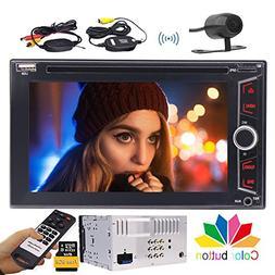 EinCar Wireless Rear View Camera + Double 2 Din Autoradio 6.