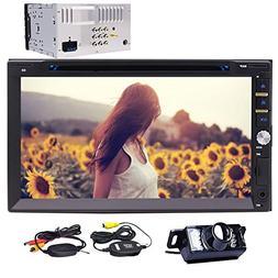 Wireless Rear Camera + EinCar Double Din Car DVD Player In D