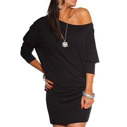 FAPIZI ♥ Women Dress ♥ Womens Long Sleeve Off Shoulder M
