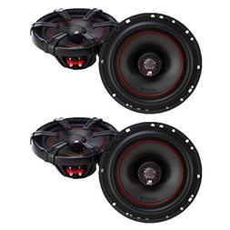 MB Quart X-Line 6.5 Inch Coaxial Car Audio Speakers Bundle -
